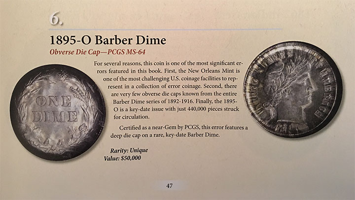 decor on a dime inventory 1895 o barber dime obverse die cap pcgs ms 64 12054